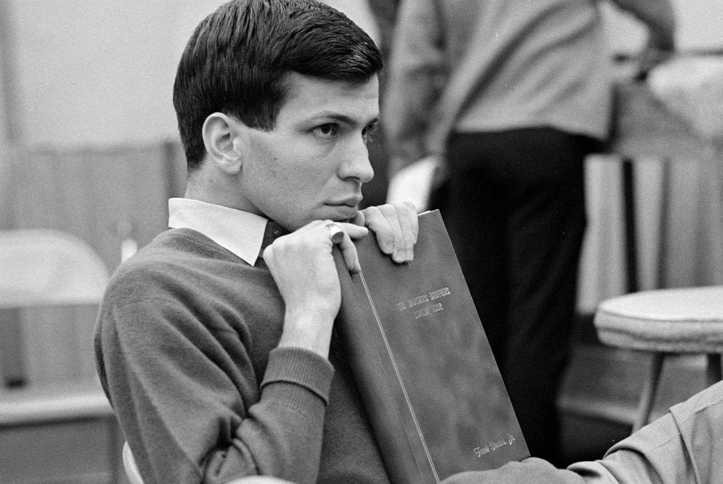 Frank Sinatra Jr. with a book