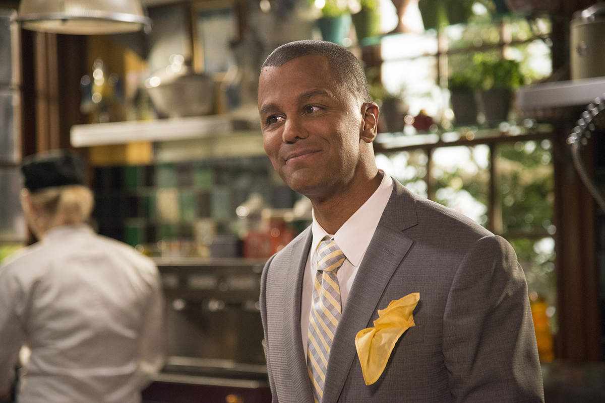 'Gilmore Girls' character Michel, played by Yanic Truesdale, smiling