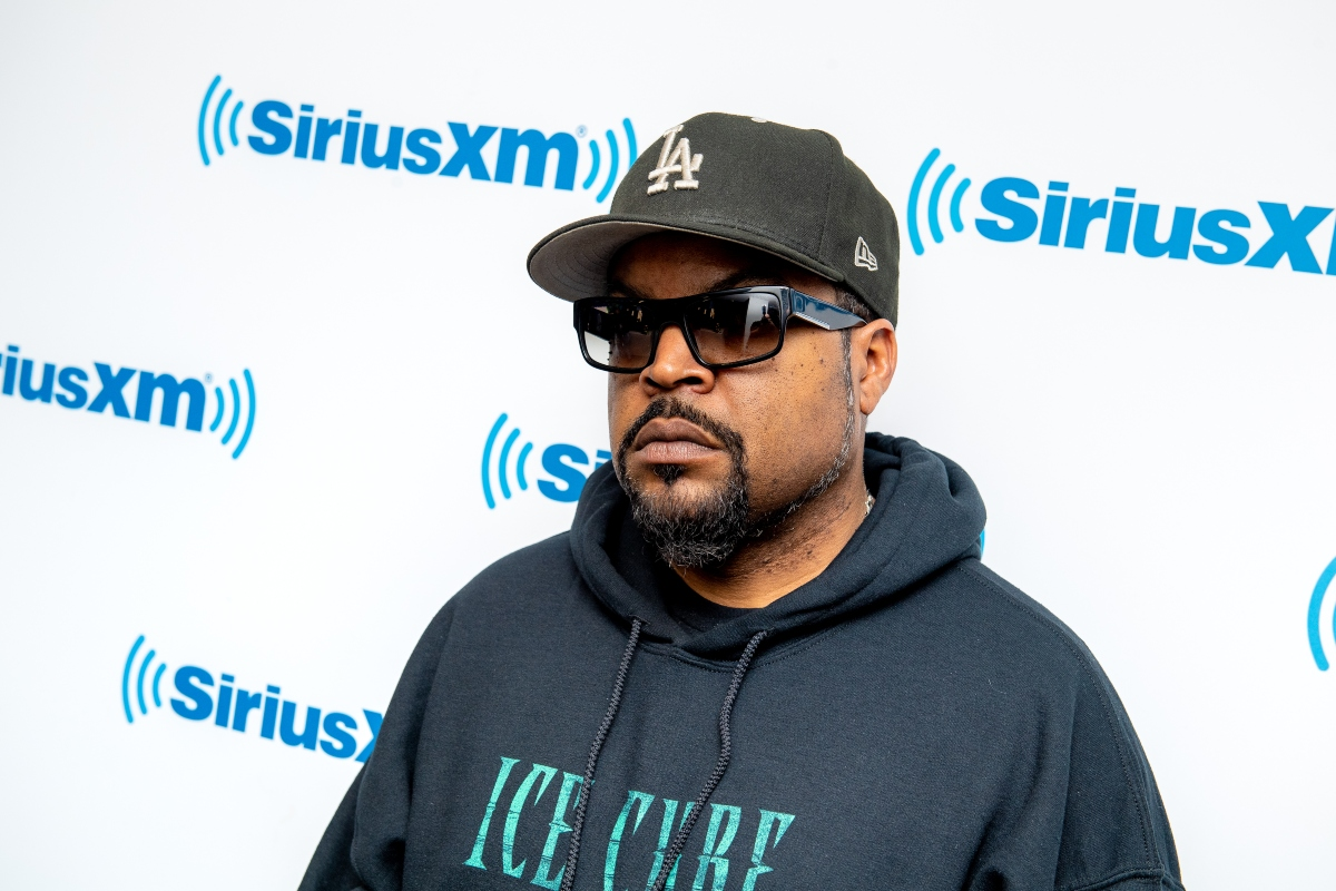 Ice Cube visits the 'Sway in the Morning' show on Shade 45 at SiriusXM Studios in 2018 in New York City