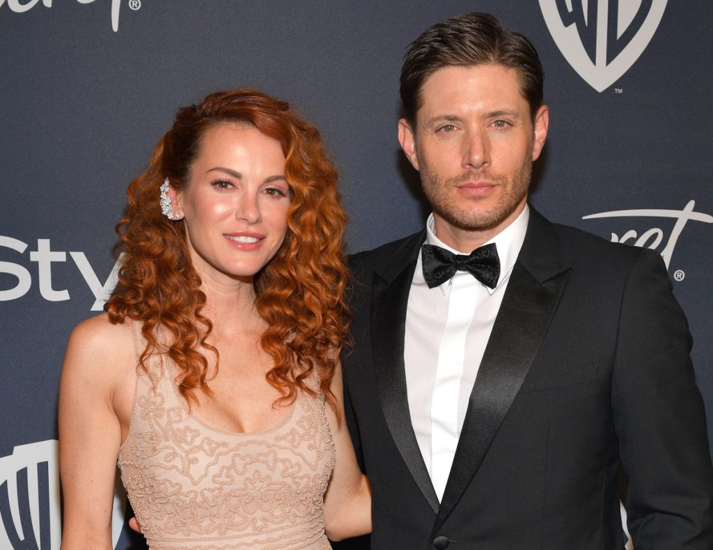 Danneel Ackles and 'Supernatural' star Jensen Ackles attend 2020 InStyle and Warner Bros. 77th Annual Golden Globe Awards Post-Party