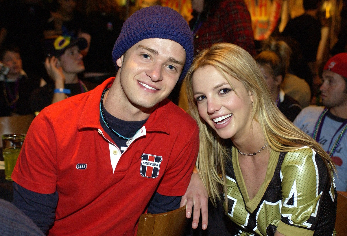 Britney Spears (R) and Justin Timberlake in 2002
