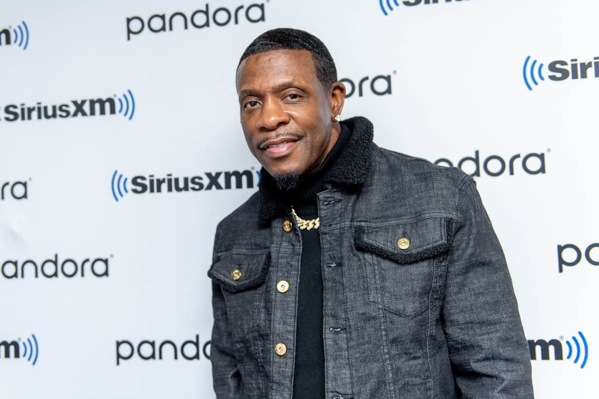 Keith Sweat visits SiriusXM on October 30, 2019 in New York City