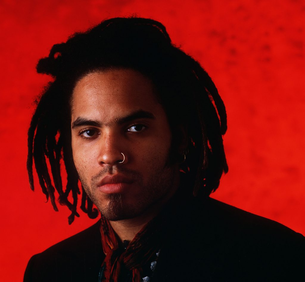 Lenny Kravitz with a nose ring