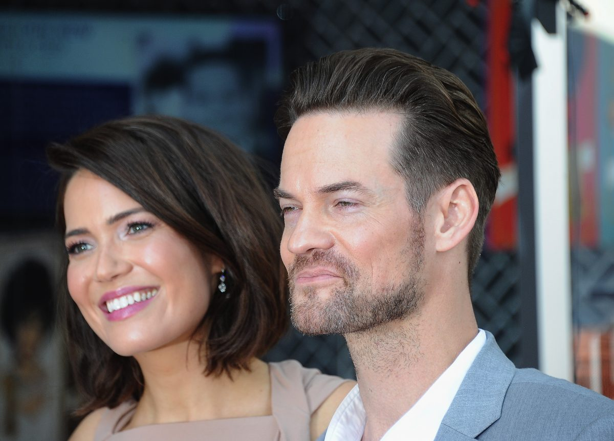 Mandy Moore and Shane West pose for a photo in 2019