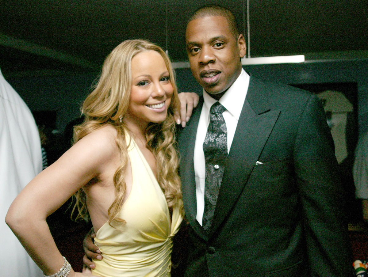(L-R): Mariah Carey and Jay-Z in 2005 in New York City, New York.