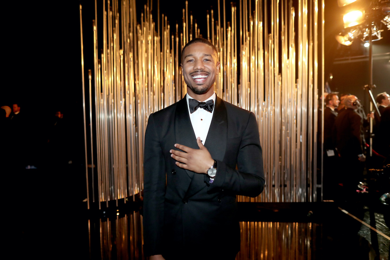 Michael B. Jordan attends the 88th Annual Academy Awards at Dolby Theatre