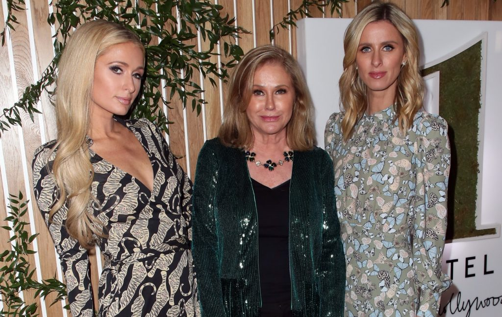 Paris Hilton, Kathy Hilton and Nicky Hilton Rothschild attend the 1 Hotel West Hollywood grand opening event
