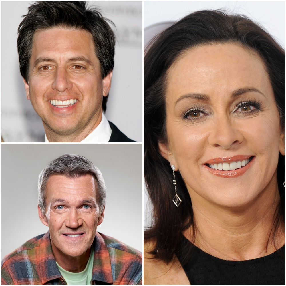 Actor Patricia Heaton, right, and her on-screen husbands: top, actor Ray Romano of 'Everybody Loves Raymond' and bottom, Neil Flynn of 'The Middle'