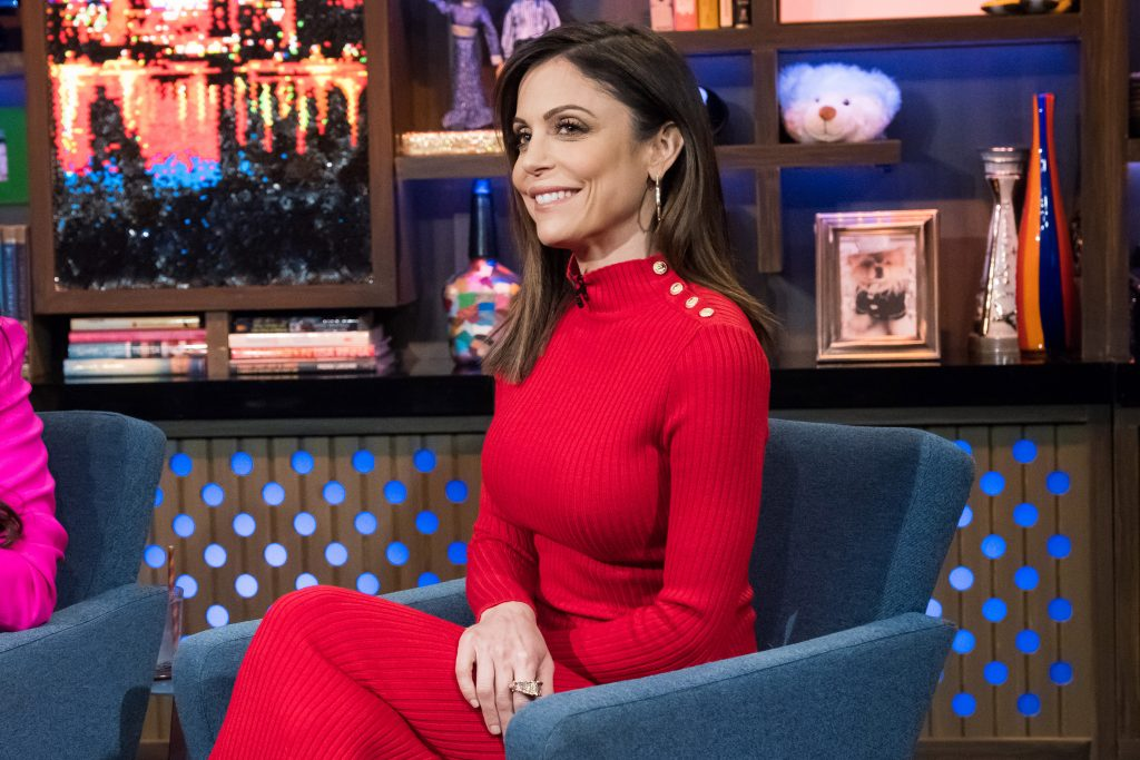 Bethenny Frankel on the set of 'Watch What Happens Live' in 2018