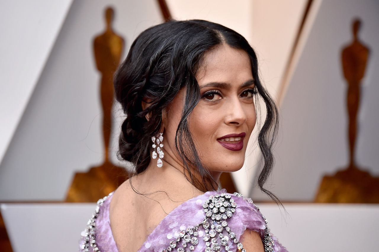 Salma Hayek attends the 90th Annual Academy Awards at Hollywood & Highland Center