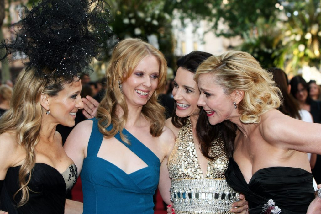 Sarah Jessica Parker, Cynthia Nixon, Kristen Davis and Kim Cattrall arrive at The UK Premiere of Sex And The City 2