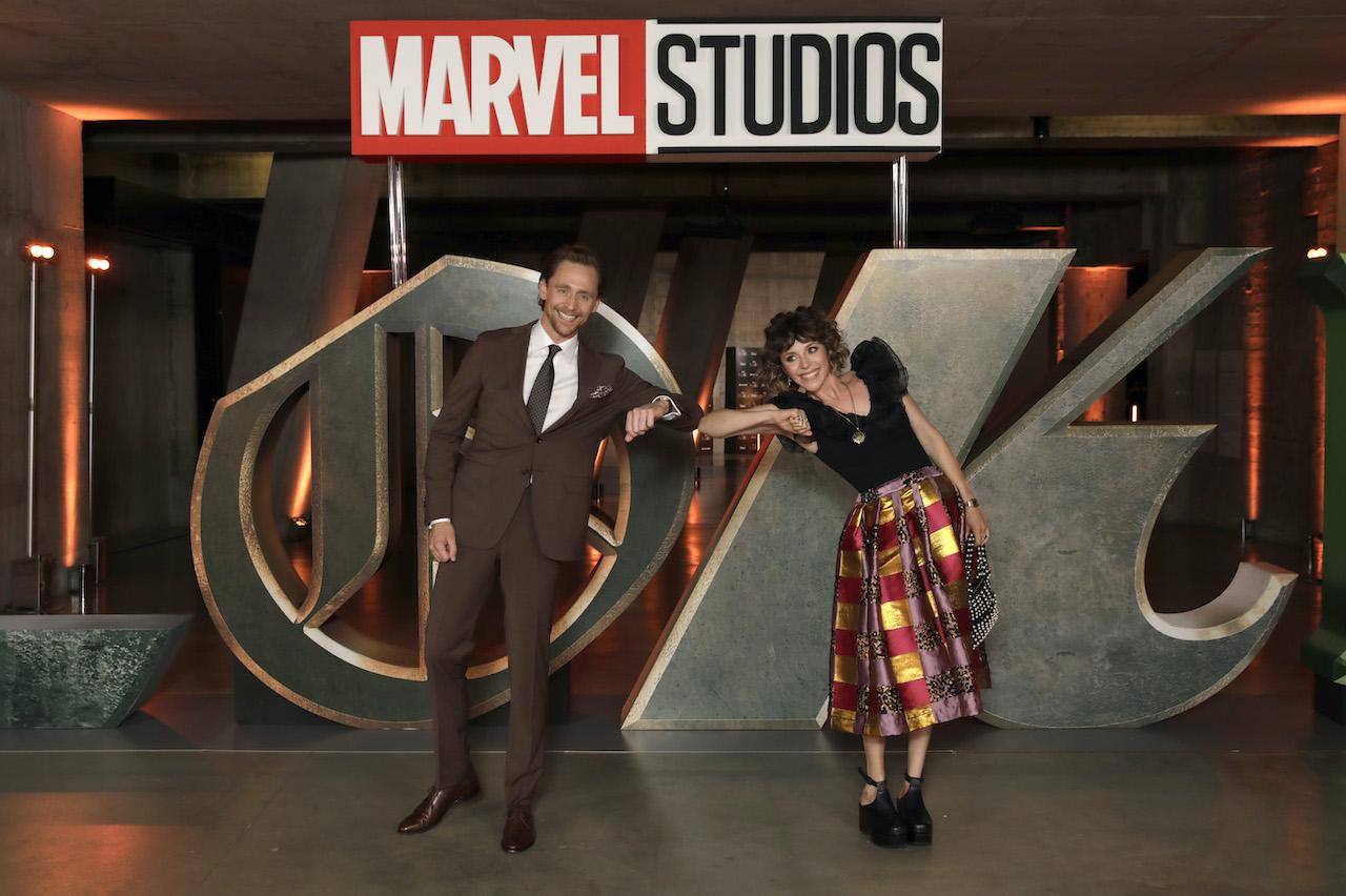 Tom Hiddleston and Sophia Di Martino attend the Special Screening of Marvel Studios' series LOKI