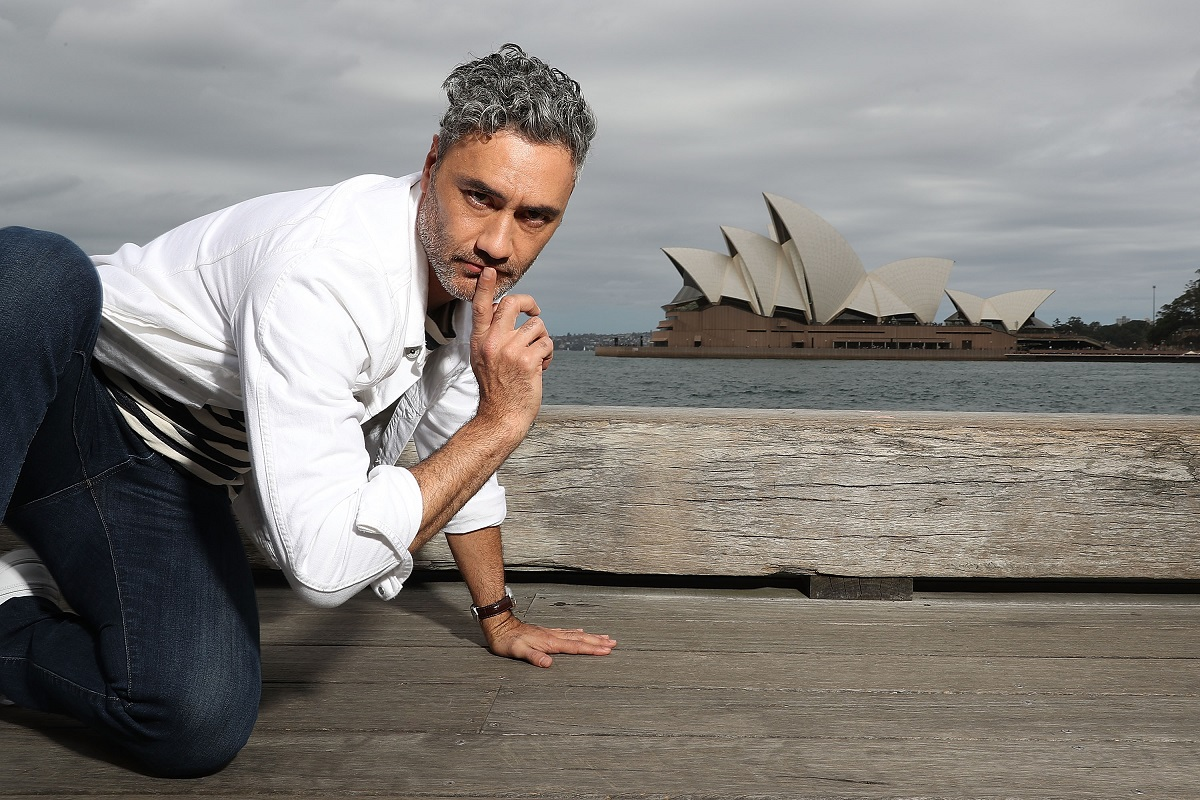 Taika Waititi poses during a photo call for 'Thor: Ragnarok' on October 15, 2017, in Sydney, Australia.