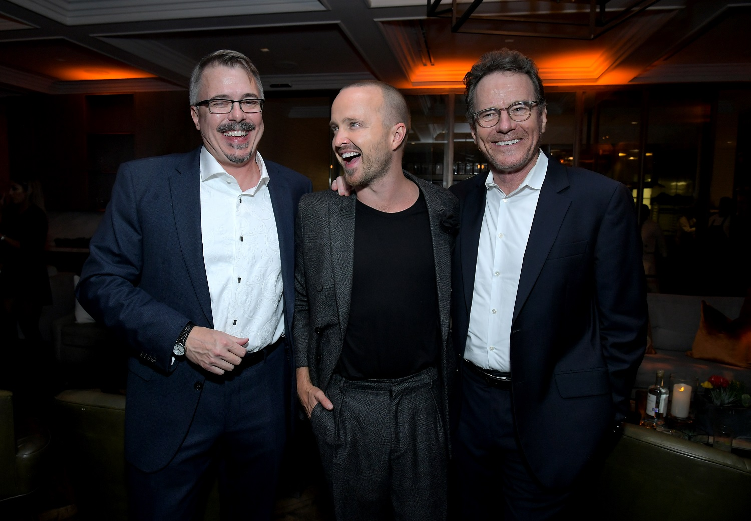 Breaking Bad writer Vince Gilligan, and stars Aaron Paul and Bryan Cranston