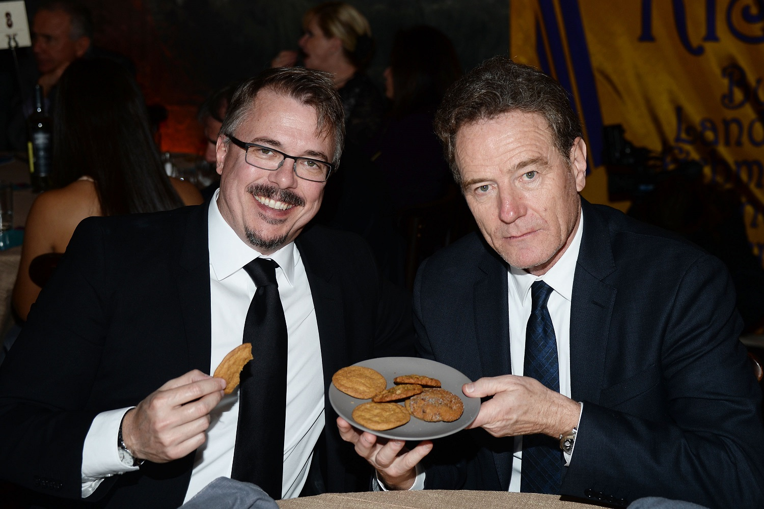 Vince Gilligan and actor Bryan Cranston of Breaking Bad fame