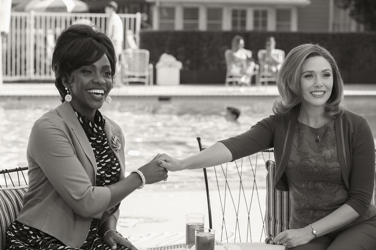 (L-R): Teyonah Parris as Monica Rambeau and Elizabeth Olsen as Wanda Maximoff in 'WandaVision'