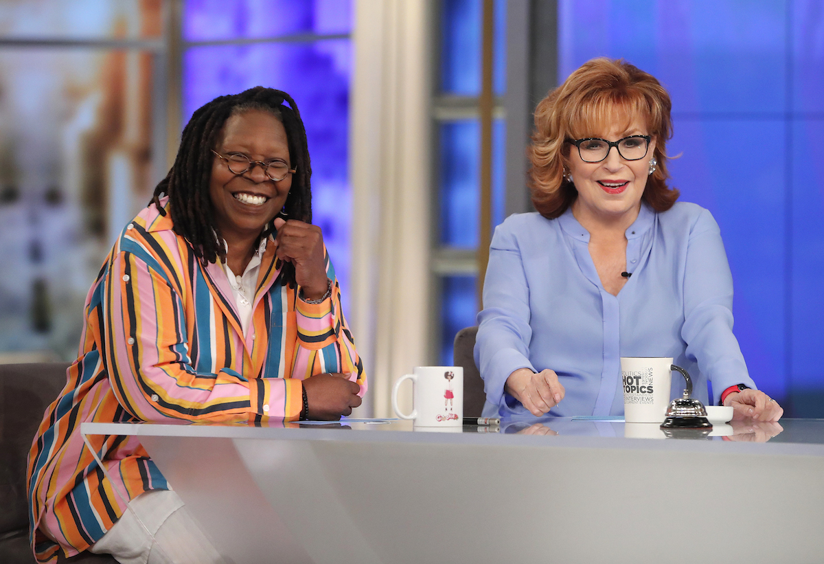 Whoopi Goldberg and Joy Behar on the set of 'The View' in May 2019