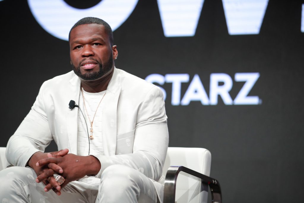 """Curtis """"50 Cent"""" Jackson of 'Power' speaks on stage."""