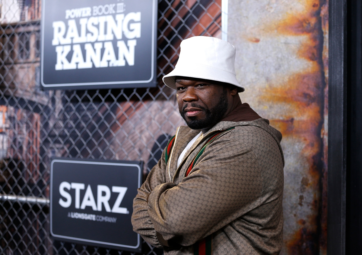 50 Cent attends the 'Power Book III: Raising Kanan' New York premiere at the Hammerstein Ballroom on July 15, 2021 in New York City