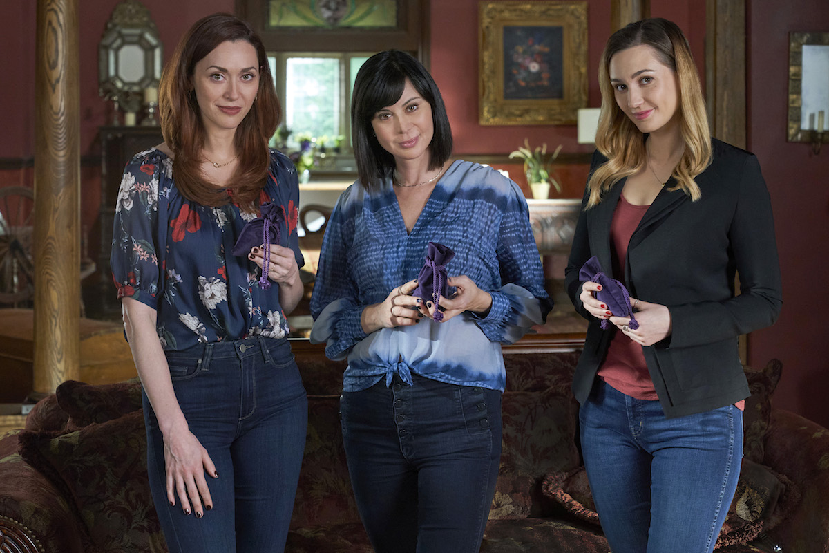 Abigail, Cassie, and Joy standing next to each other in the 'Good Witch' series finale