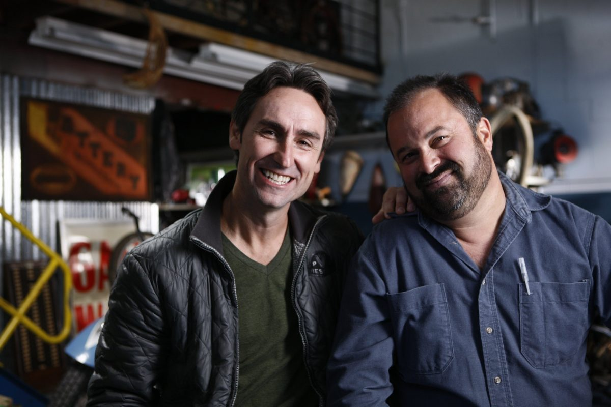 Smiling photo of Mike Wolfe and Frank Fritz from 'American Pickers'