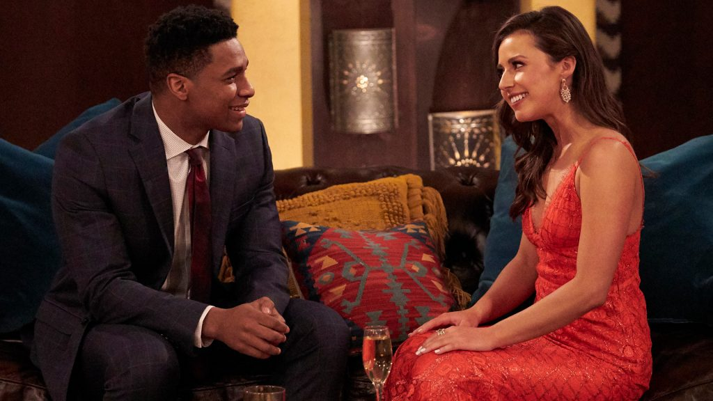 Andrew Spencer and Katie Thurston sit down together in 'The Bachelorette' Season 17 premiere