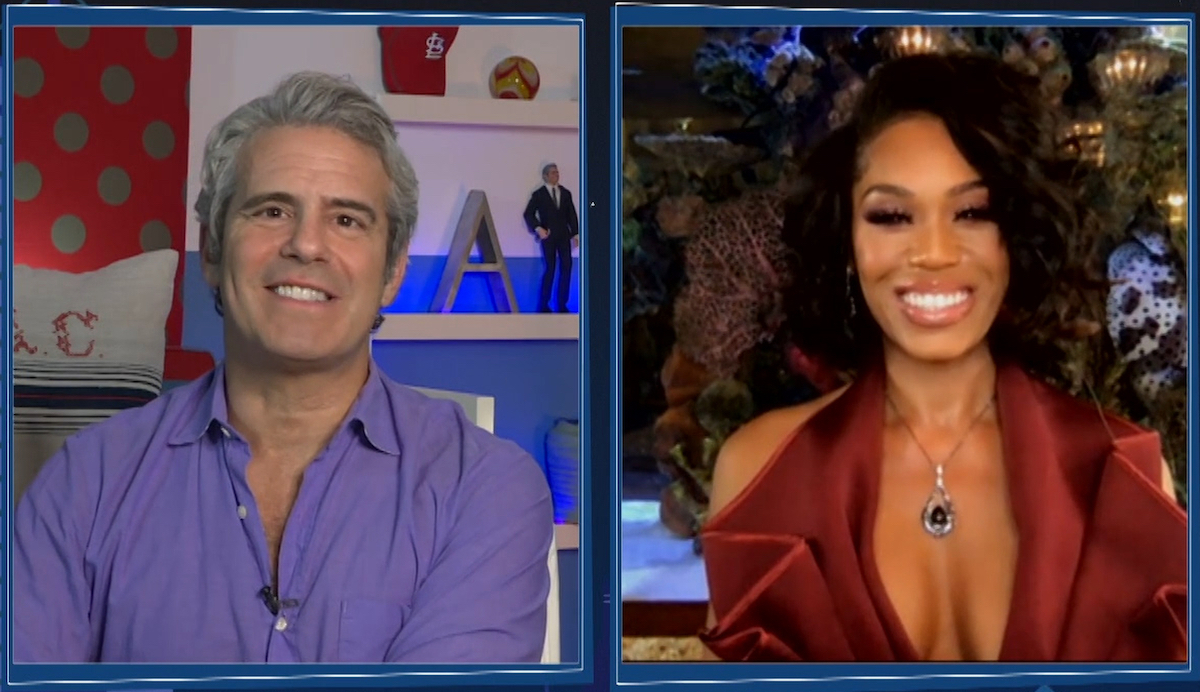 Andy Cohen conducts a virtual interview with Monique Samuels