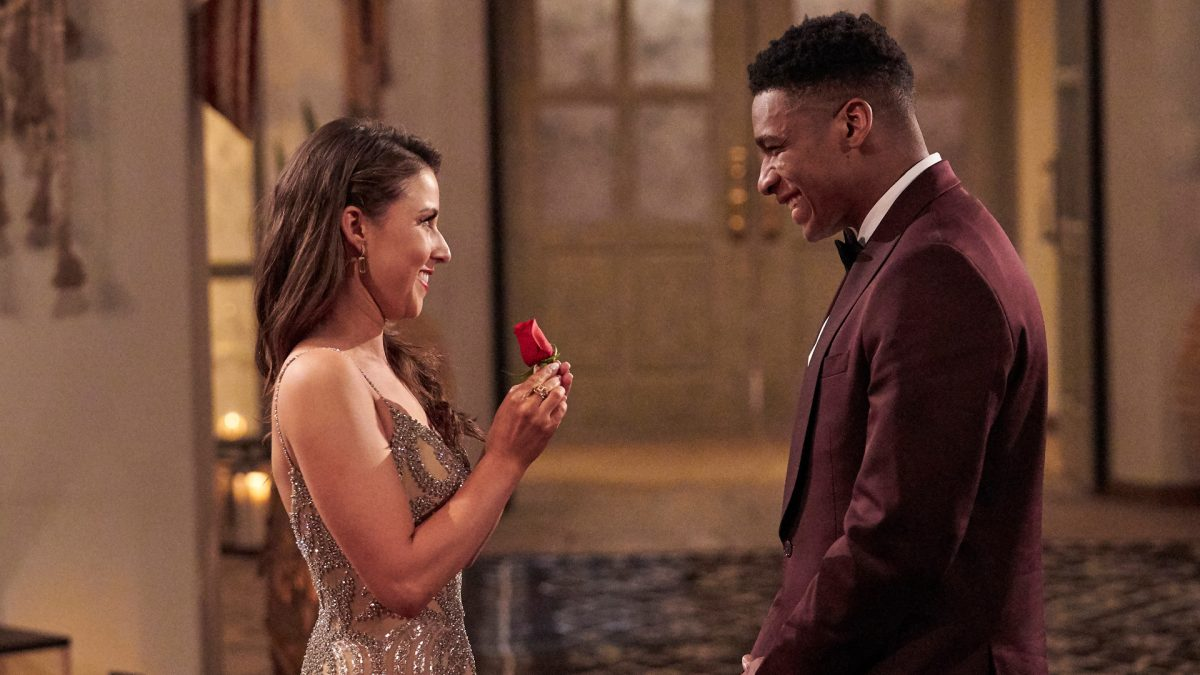 Katie Thurston gives Andrew Spencer a rose in 'The Bachelorette' Season 17 Episode 4