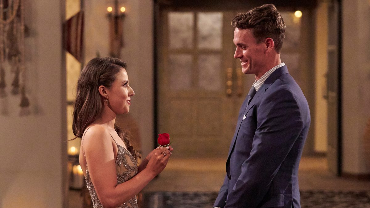 Katie Thurston gives Mike Planeta (Mike P.) a rose in 'The Bachelorette' Season 17 Episode 4
