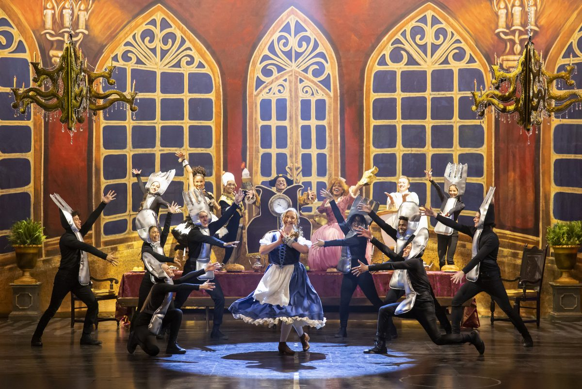 Cast members of the Disney+ original series 'High School Musical: The Musical: The Series' perform 'Be Our Guest' from 'Beauty and the Beast'