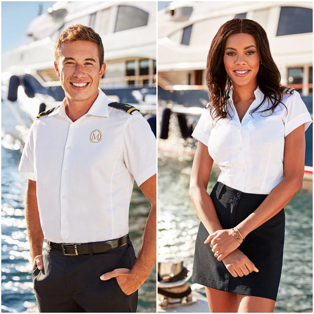 David Pascoe and Lexi Wilson from Below Deck Mediterranean Season 6 cast photo