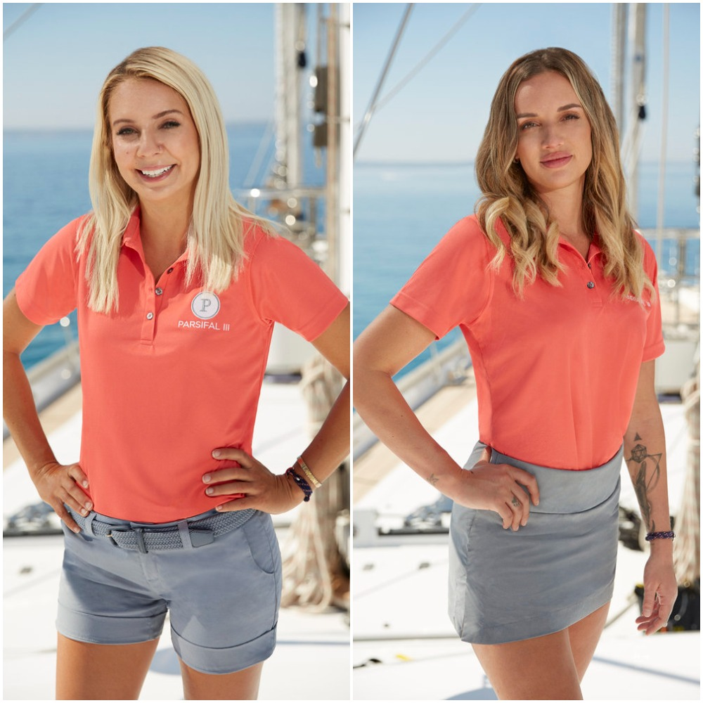 Sydney Zaruba and Alli Dore from Below Deck Sailing Yacht's cast photo