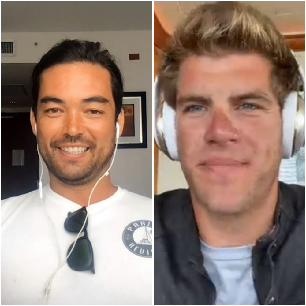 Below Deck Sailing Yacht's Colin Macrae and Jean-Luc Cerza-Lanaux during the reunion