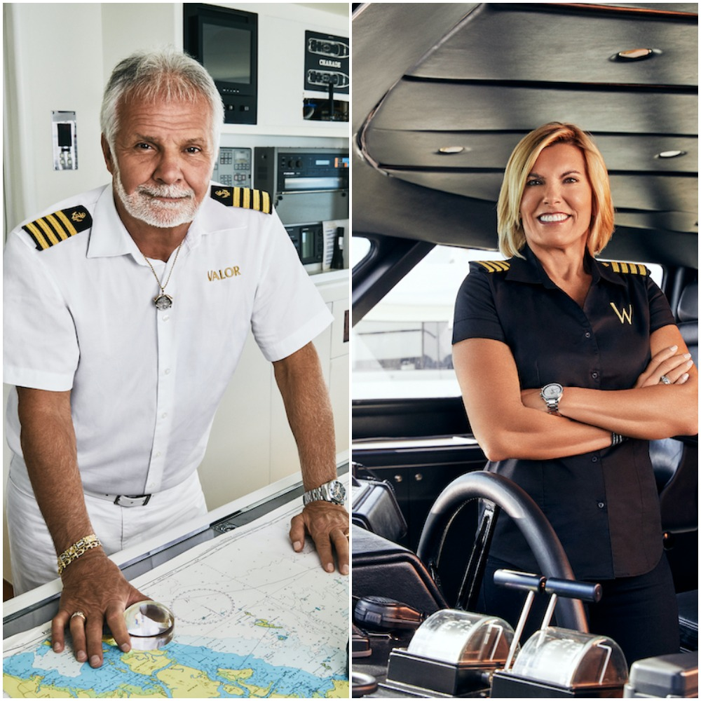 Captain Lee Rosbach from Below Deck and Captain Sandy Yawn from Below Deck Mediterranean