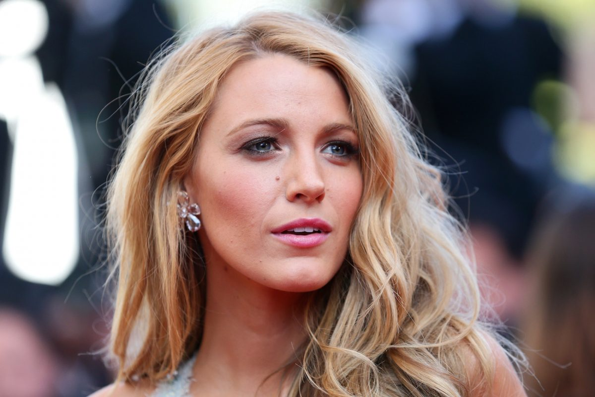 Blake Lively looking on, close up