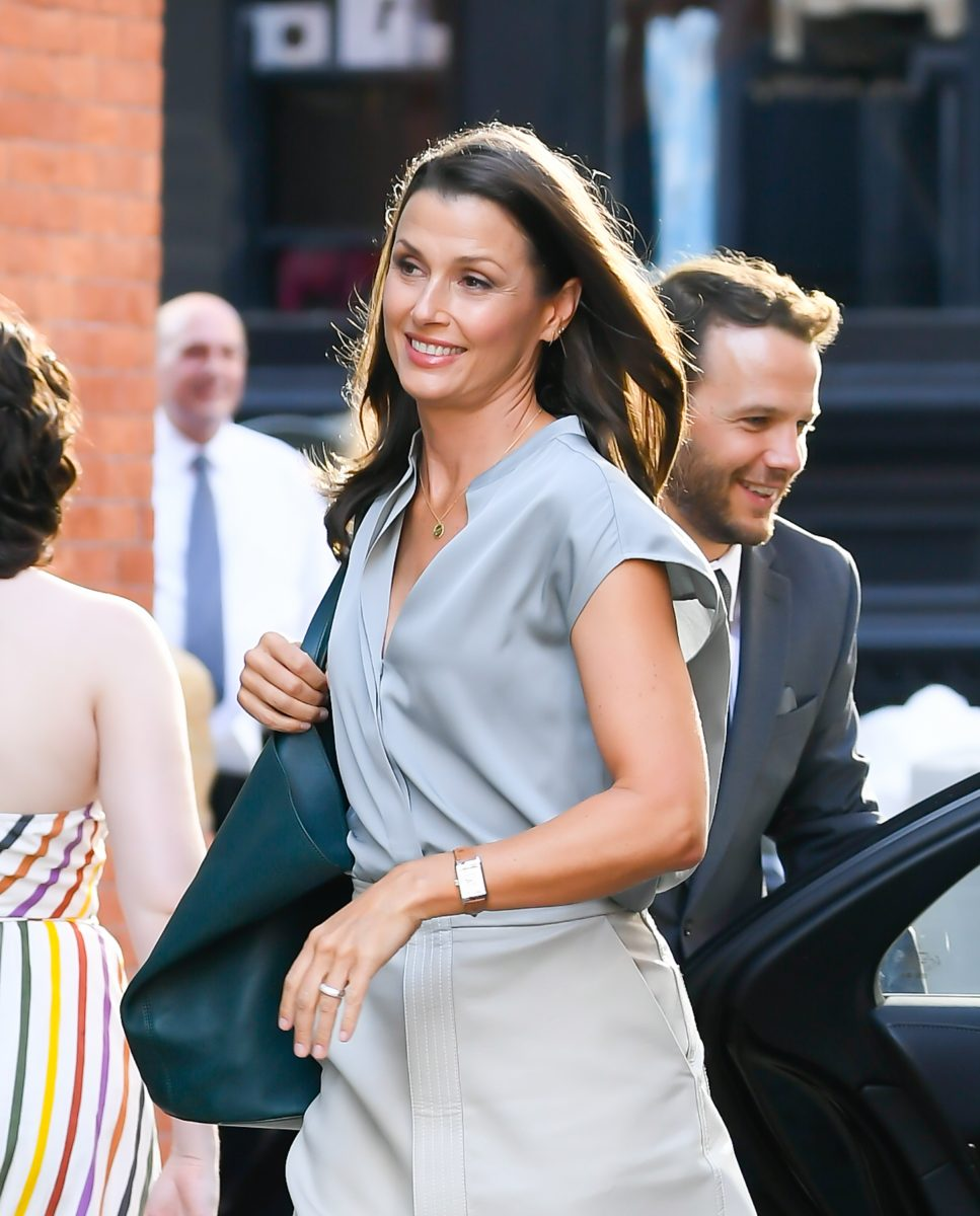 Bridget Moynahan is seen on the streets of New York filming 'And Just LIke That...'