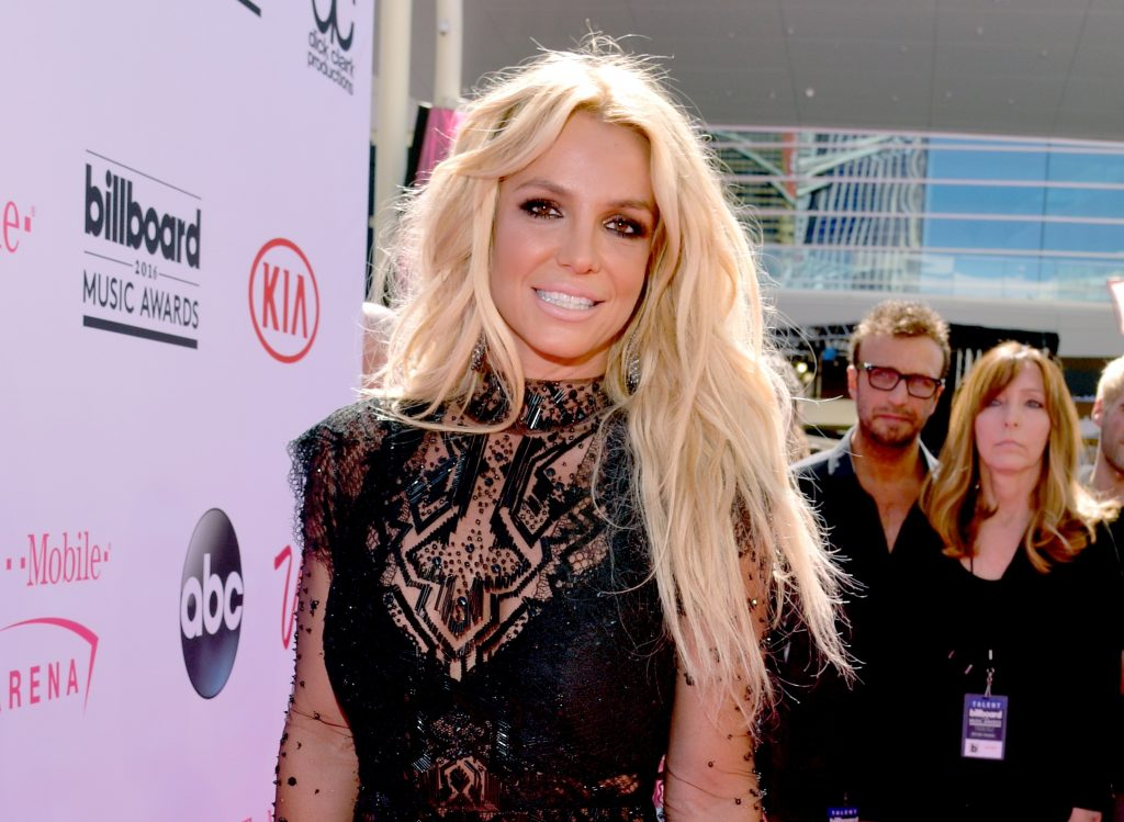 Britney Spears smiling for a photo in Las Vegas in 2016