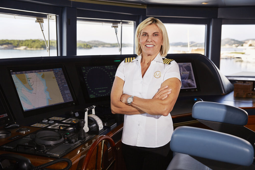 Below Deck Mediterranean cast photo of Captain Sandy Yawn