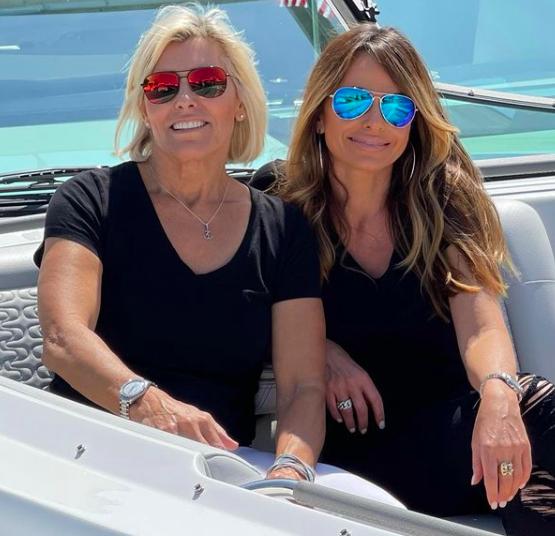 Captain Sandy Yawn from Below Deck Mediterranean and girlfriend Leah Shafer