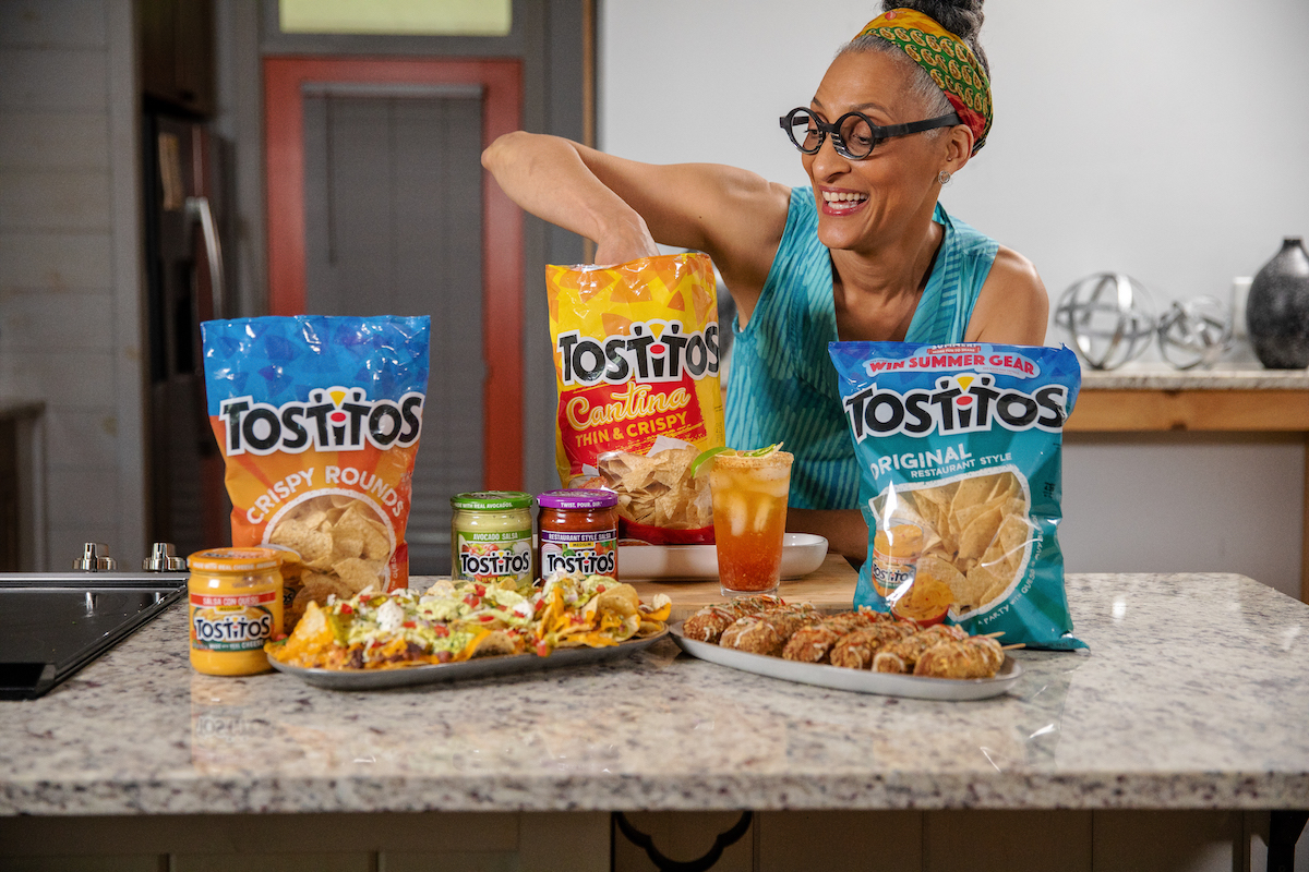 Charlotte NC - June 11th 2021 -  Carla Hall and Tostitos Photographed in Charlotte NC on June 11 2021. Photo by Peter Taylor