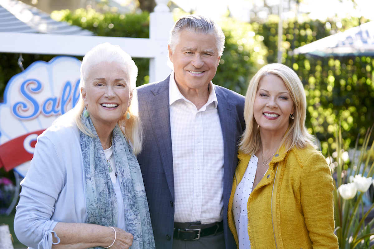 Diane Ladd, Treat Williams, and Barbara Niven standing next to each other in 'Chesapeake Shores'