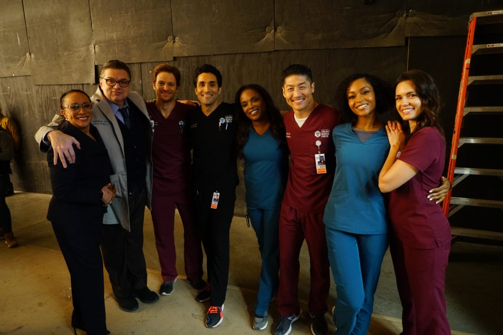 The cast of Chicago Med poses together.