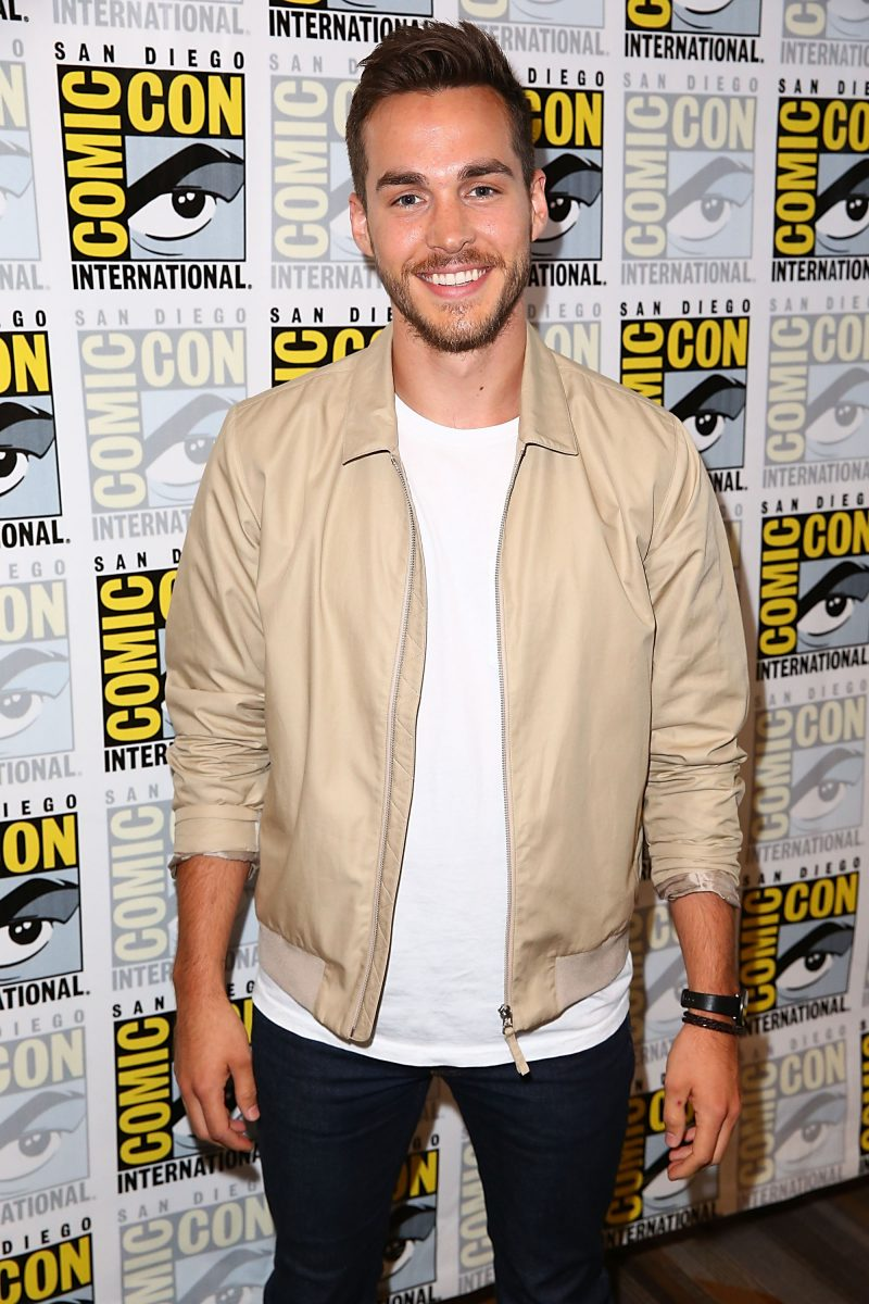 Chris Wood attends Comic-Con with Supergirl
