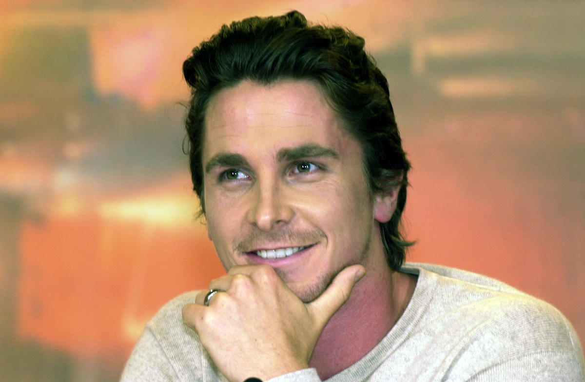 Christian Bale smiles