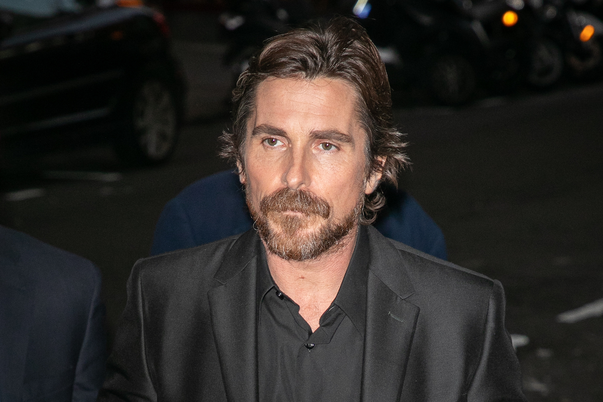 Christian Bale wears black at the premiere of 'Le Mans 66' aka 'Ford v Ferrari'