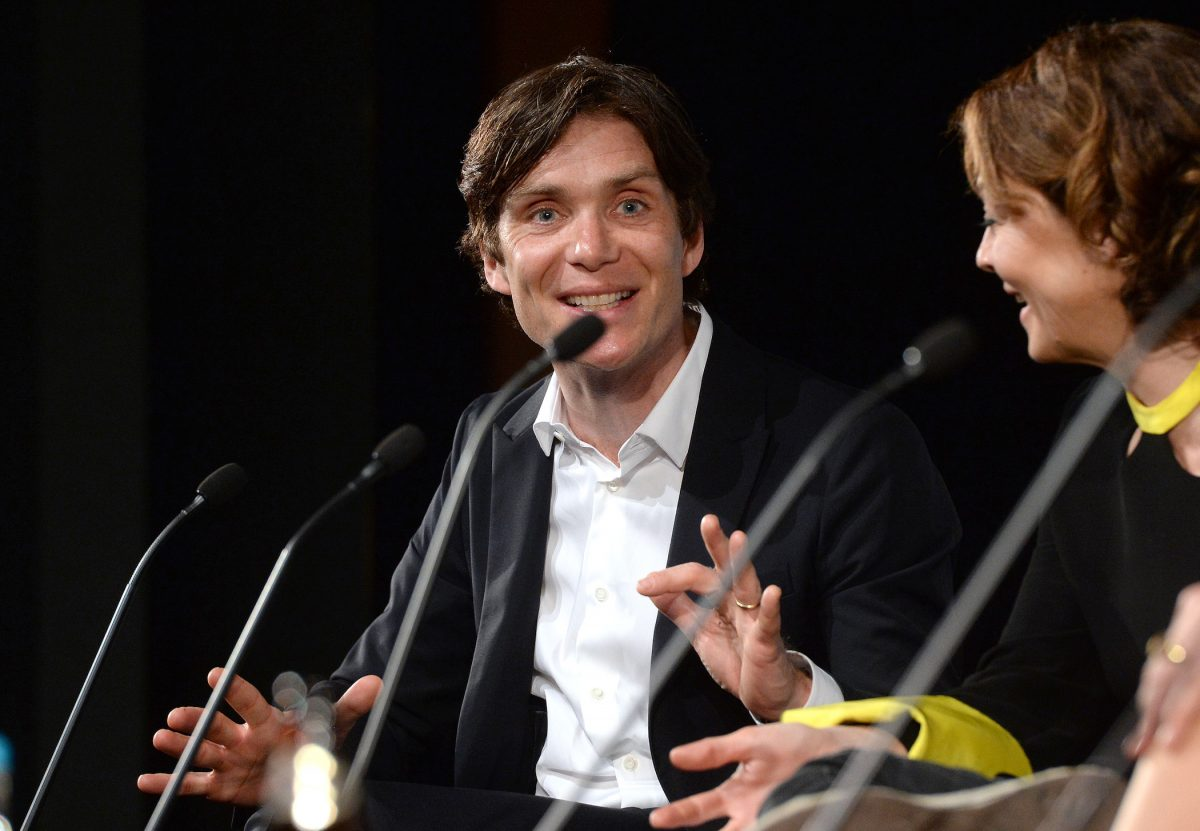 Cillian Murphy, actor who plays Thomas Shelby in 'Peaky Blinders' Season 6, making an excited face while answering questions