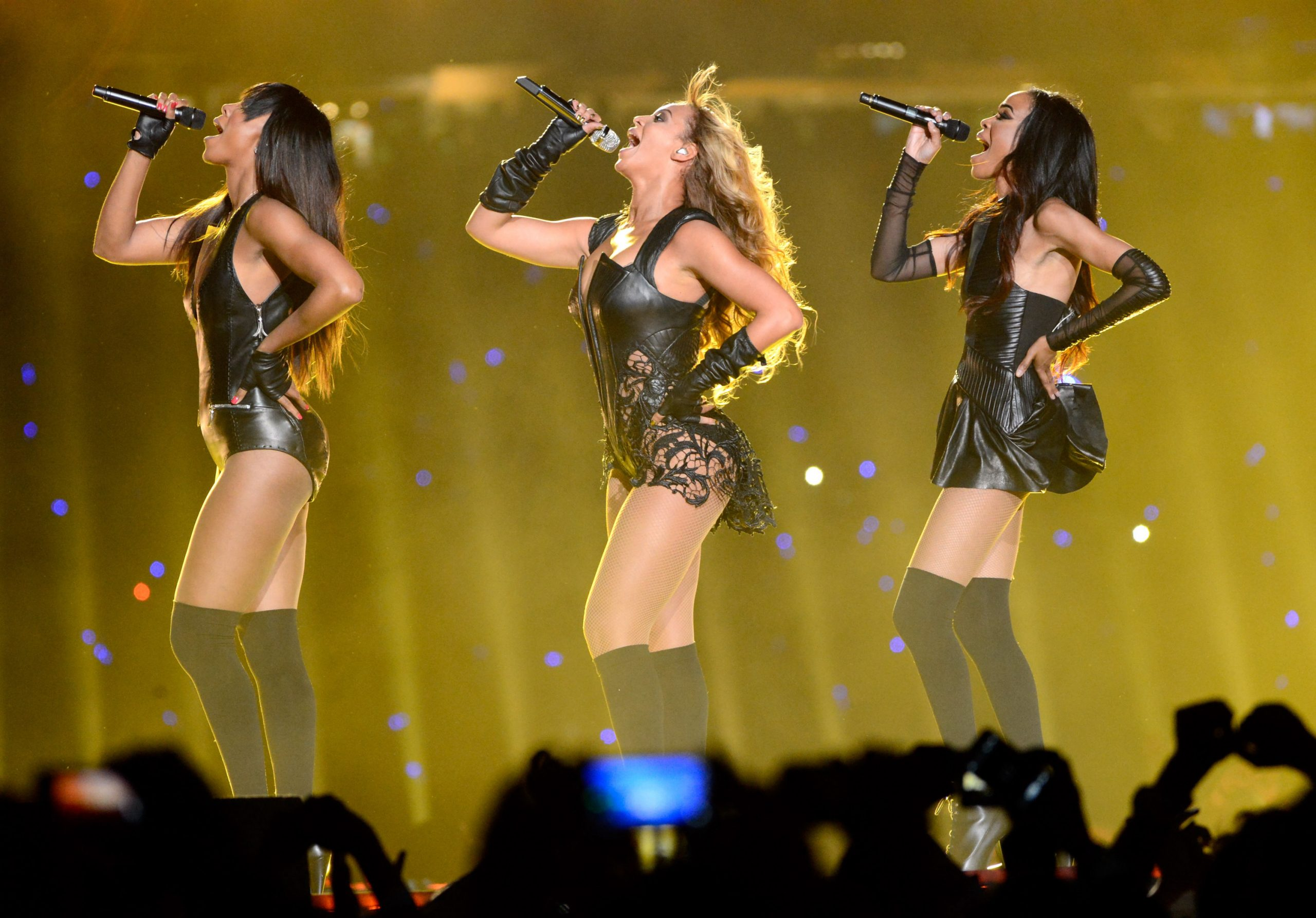 Destiny's Child performing at the Super Bowl