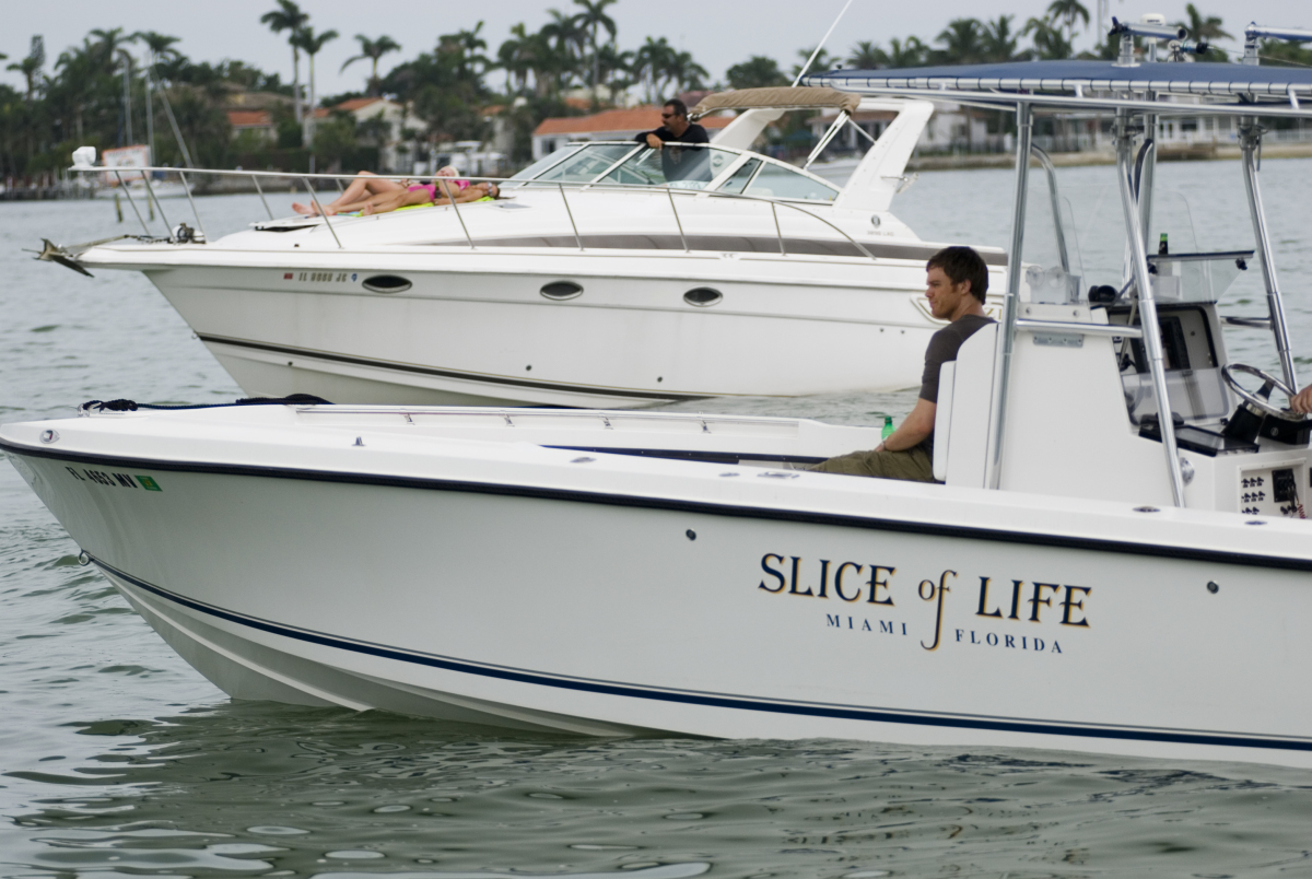 Dexter on his boat in Miami