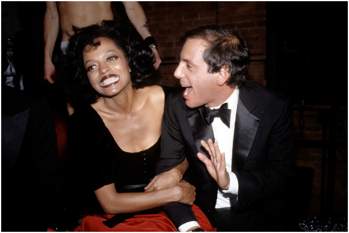 Diana Ross embracing Studio 54 CEO Steve Rubell in New York City.