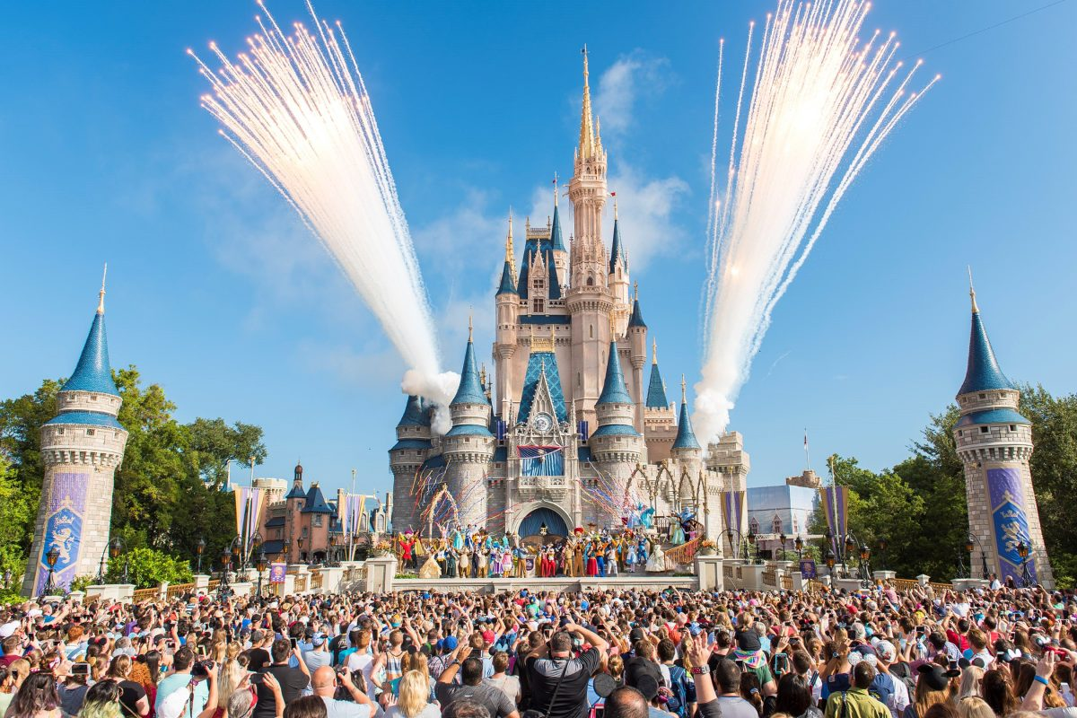 Disney World's Magic Kingdom in Florida, where park goers can listen to their favorite ride queue music